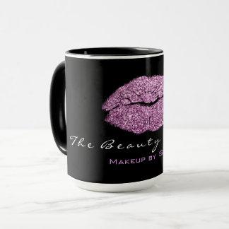 Mug Noir de lèvres de parties scintillantes d'alto de