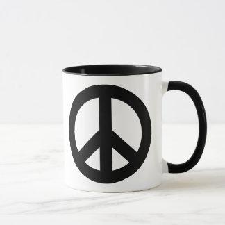 Mug Noir de signe de paix