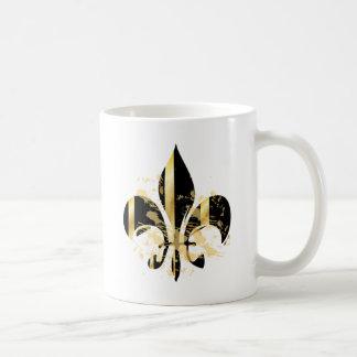Mug Noir et Gold Fleur de Lis