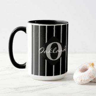 Mug Noir et gris barre le café Tasse-Oakland