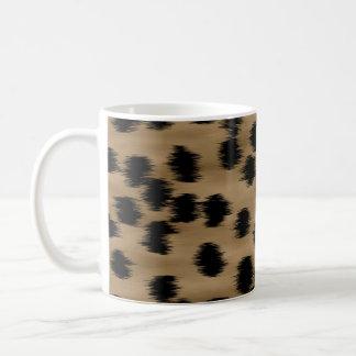 Mug Noir et modèle d'impression de guépard de Brown