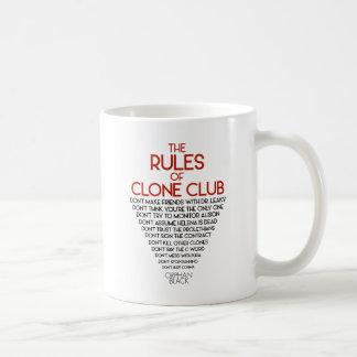 Mug Noir orphelin | les règles du club de clone