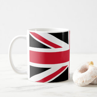 Mug Noir, rouge et blanc de ~ de mod Union Jack