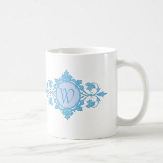 """Mug """"Nom de famille"""" dans le motif bleu de cercle"""
