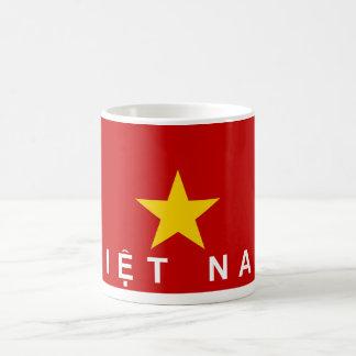 Mug nom des textes de pays de drapeau du Vietnam