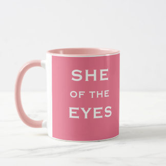 Mug Nom drôle de plaisanterie d'optométriste féminin