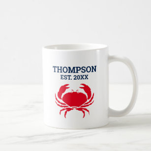 Mug Nom du capitaine du bateau de pêche du crabe roug