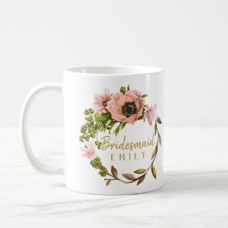 Mug Nom rose ID456 de demoiselle d'honneur de