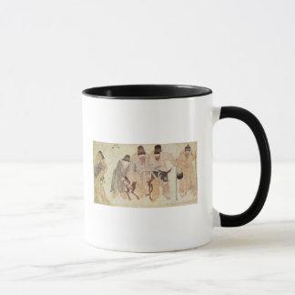 Mug Nomades mongols avec un âne, XVème siècle