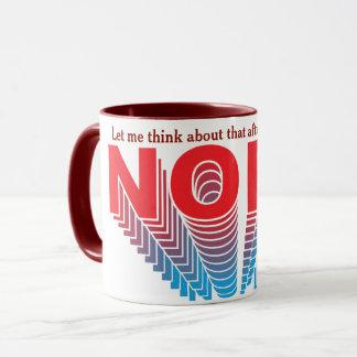 Mug Nope superbe rouge/bleu