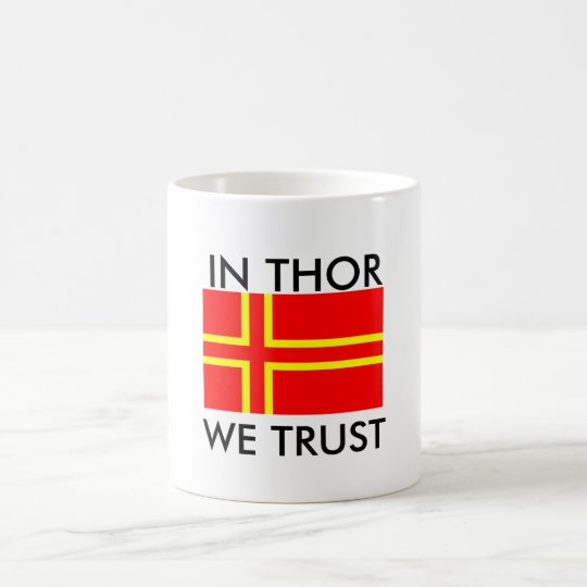 Mug norman flag saint olaf, In Thor We Trust