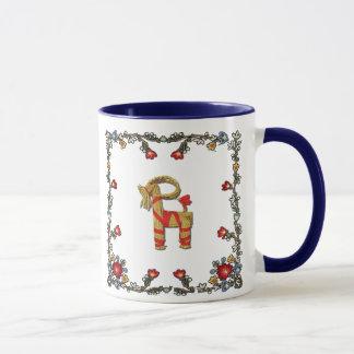 Mug Norvégien Bunad floral et chèvre de Noël de