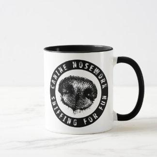 Mug Nosework canin, reniflant pour l'amusement