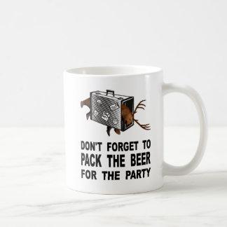 Mug N'oubliez pas d'emballer la bière pour la partie