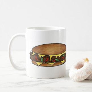Mug Nourriture de sandwich à la viande de fromage de