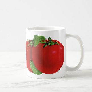 Mug Nourritures vintages, tomate mûre rouge organique