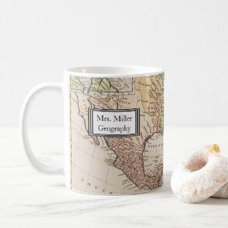 Mug Nouveau professeur vintage frais de géographie de