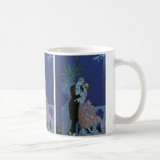 Mug Nouveaux mariés vintages d'art déco, Oui par