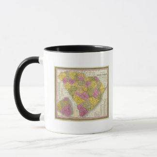 Mug Nouvelle carte de la Caroline du Sud