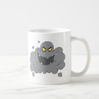 Mug Nuage noir de bande dessinée de brouillard enfumé