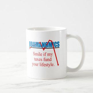 Mug Obamanomics - sourire si mes impôts financent