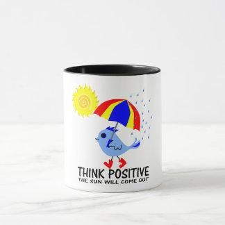Mug Oiseau bleu - pensez le message positif