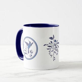 Mug Oiseaux et fleurs bleus de Delft