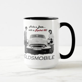 """Mug Oldsmobile """"font une date… avec un Rocket 88 !"""""""