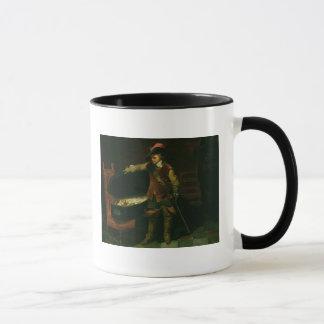 Mug Oliver Cromwell avec le cercueil de Charles I