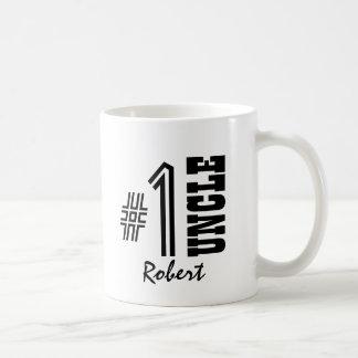 Mug ONCLE cadeau moderne noir et blanc du numéro un