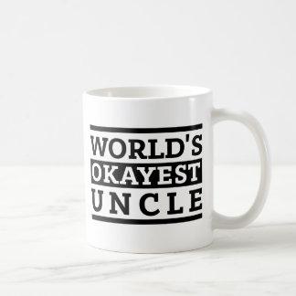 Mug Oncle vintage d'Okayest du monde blanc noir