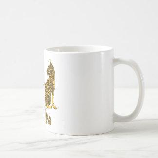 Mug or en bronze des chats 6 celtiques