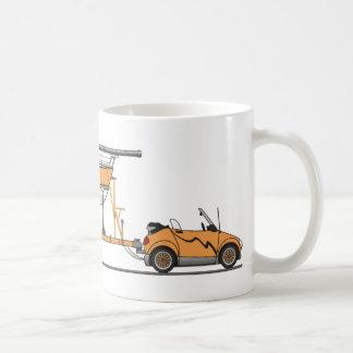 Mug Orange de bateau à voile de voiture d'Eco