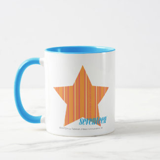 Mug Orange mince 4 de rayures