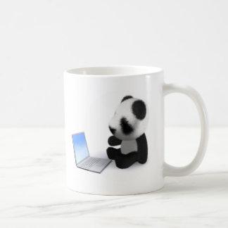 Mug ordinateur portable de panda du bébé 3d