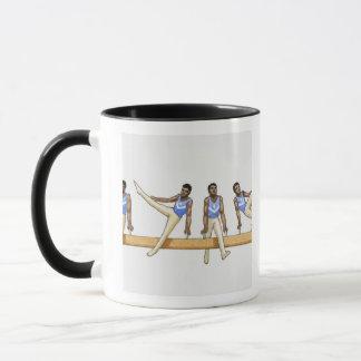 Mug Ordre des illustrations montrant le gymnaste