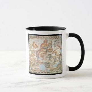 Mug Orphée jouant aux animaux, mosaïque romaine