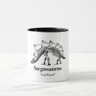 Mug Os squelettiques de dinosaure de Stegosaurus