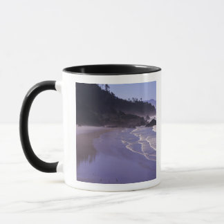 Mug OU, PS d'Ecola, plage indienne avec le brouillard