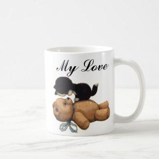 Mug Ours de nounours mignon et chat noir - mon amour