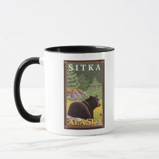 Mug Ours noir dans la forêt - Sitka, Alaska