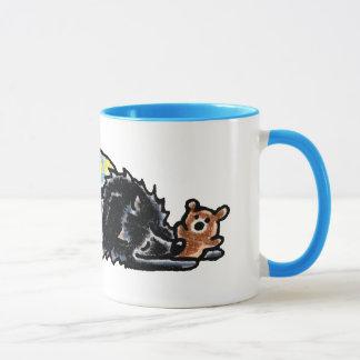 Mug Ours noir heure du coucher de Pomeranian