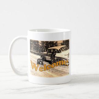 Mug Ours noir vintage et touriste de Yellowstone