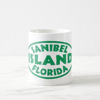 Mug Ovale vert de la Floride d'île de Sanibel