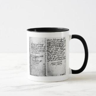 Mug Page de manuscrit