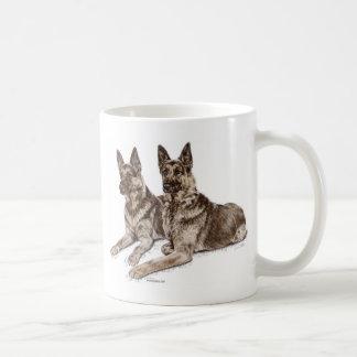 Mug Paires de chiens de berger allemand