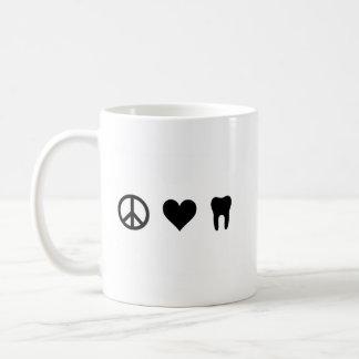 Mug Paix, amour, art dentaire