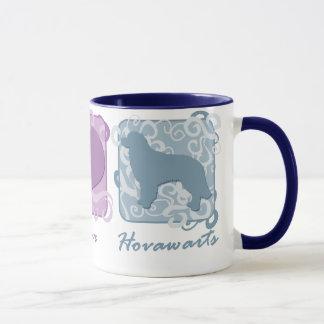 Mug Paix, amour, et Hovawarts en pastel