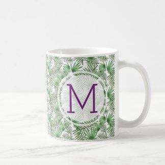 Mug Palmettes et initiale pourpre