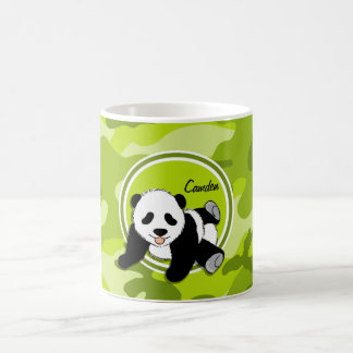 Mug Panda de bébé ; camo vert clair, camouflage